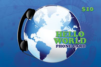 Hello World Phone Card $10