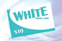 White Phone Card $10